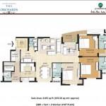 3 BR Floor Plan 2105 SQFT